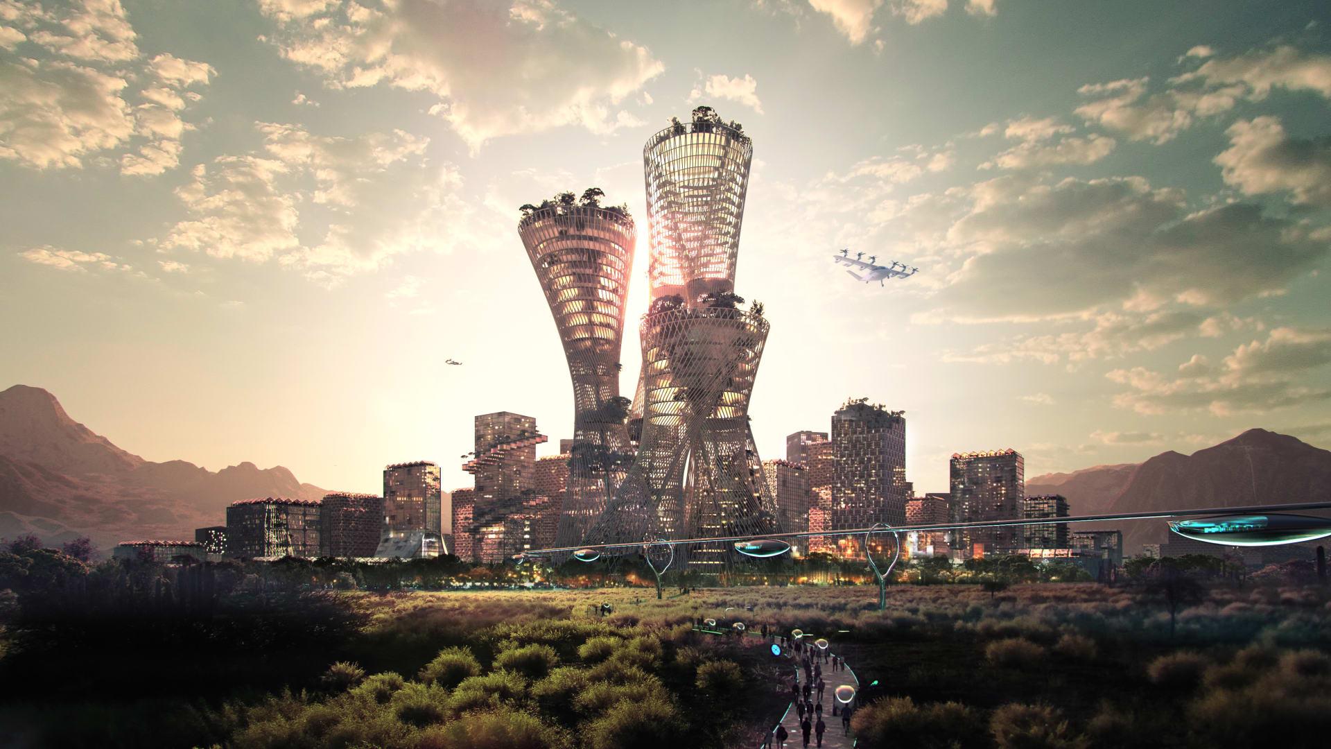 تبلغ تكلفتها 400 مليار دولار..كشف النقاب عن خطط لمدينة جديدة في صحراء أمريكا