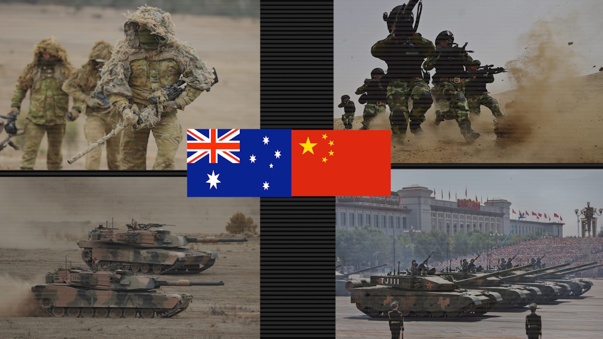 شاهد.. مقارنة بين قدرات الجيش الصيني ونظيره الأسترالي