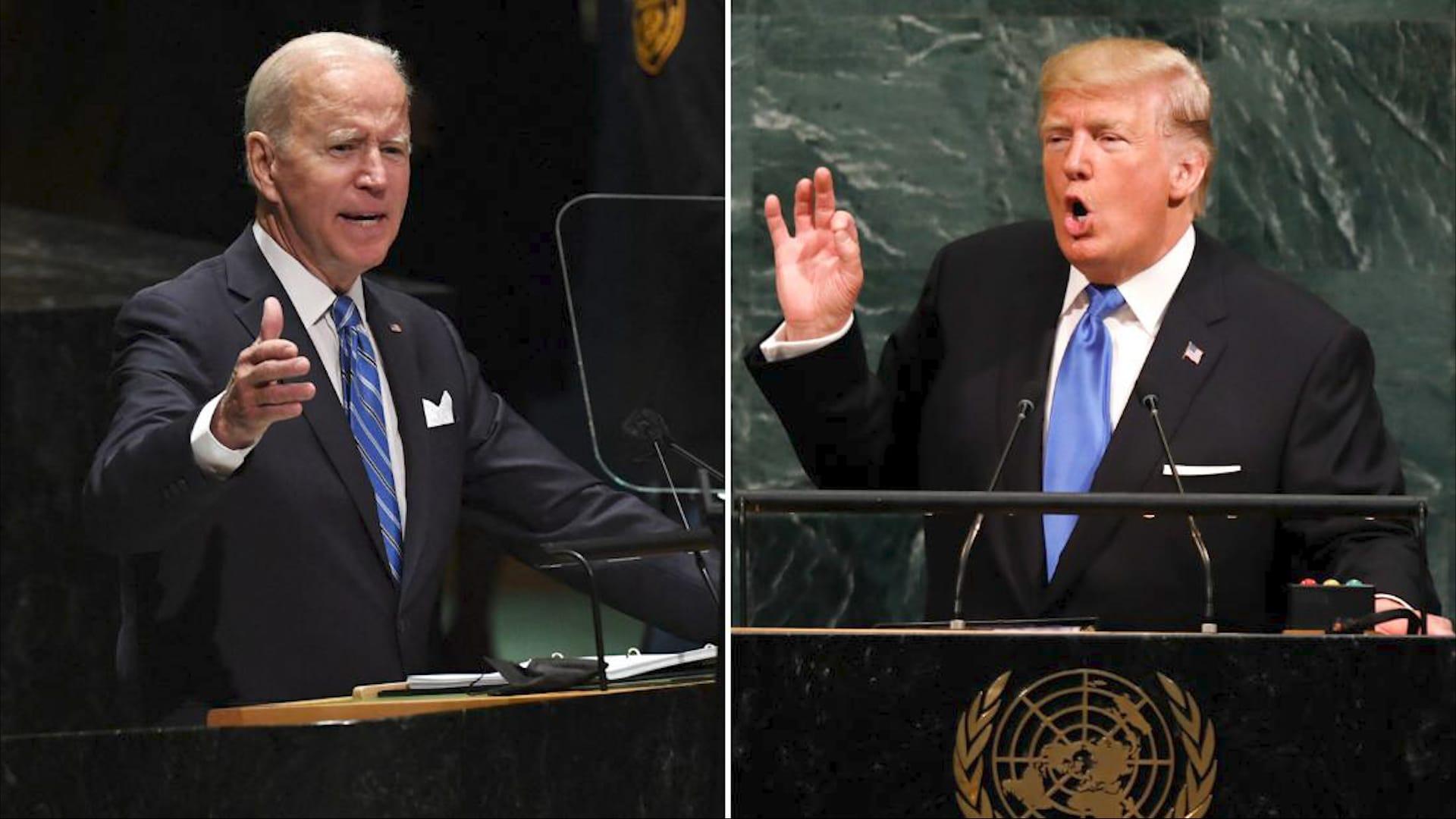 ترامب مقابل بايدن.. الفرق بين خطابهما الأول بالأمم المتحدة