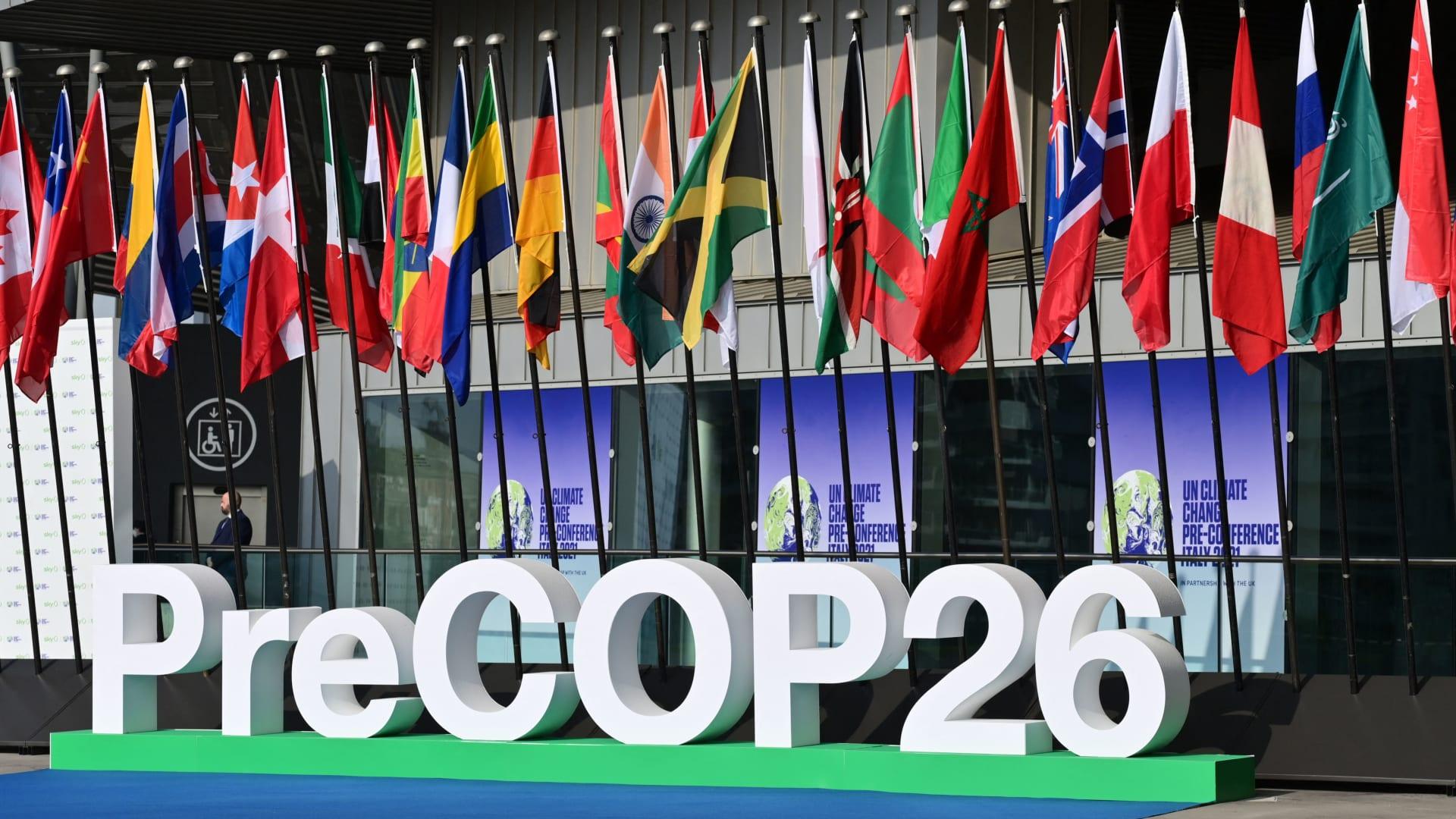 """مؤتمر يسبق """"COP 26"""" عُقد في ميلانو الايطالية مؤخراً"""