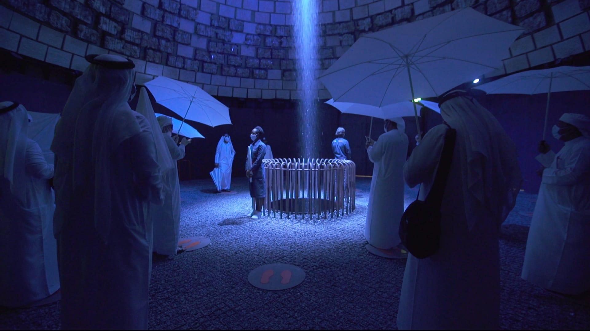 شاهد..تساقط المطر في أحد أجتحة إكسبو دبي 2020