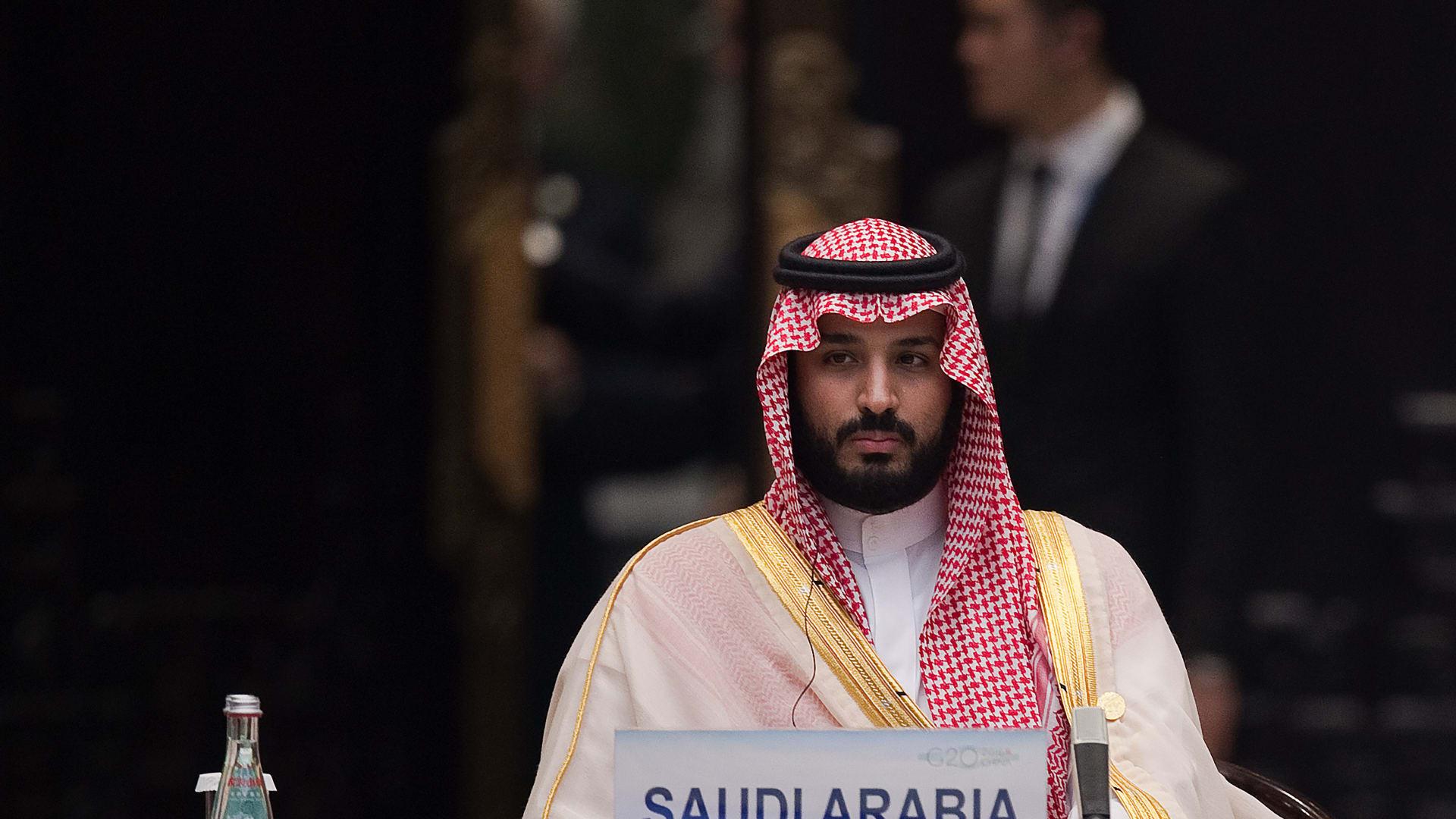 ولي العهد السعودي الأمير محمد بن سلمان في اجتماع لمجموعة العشرين