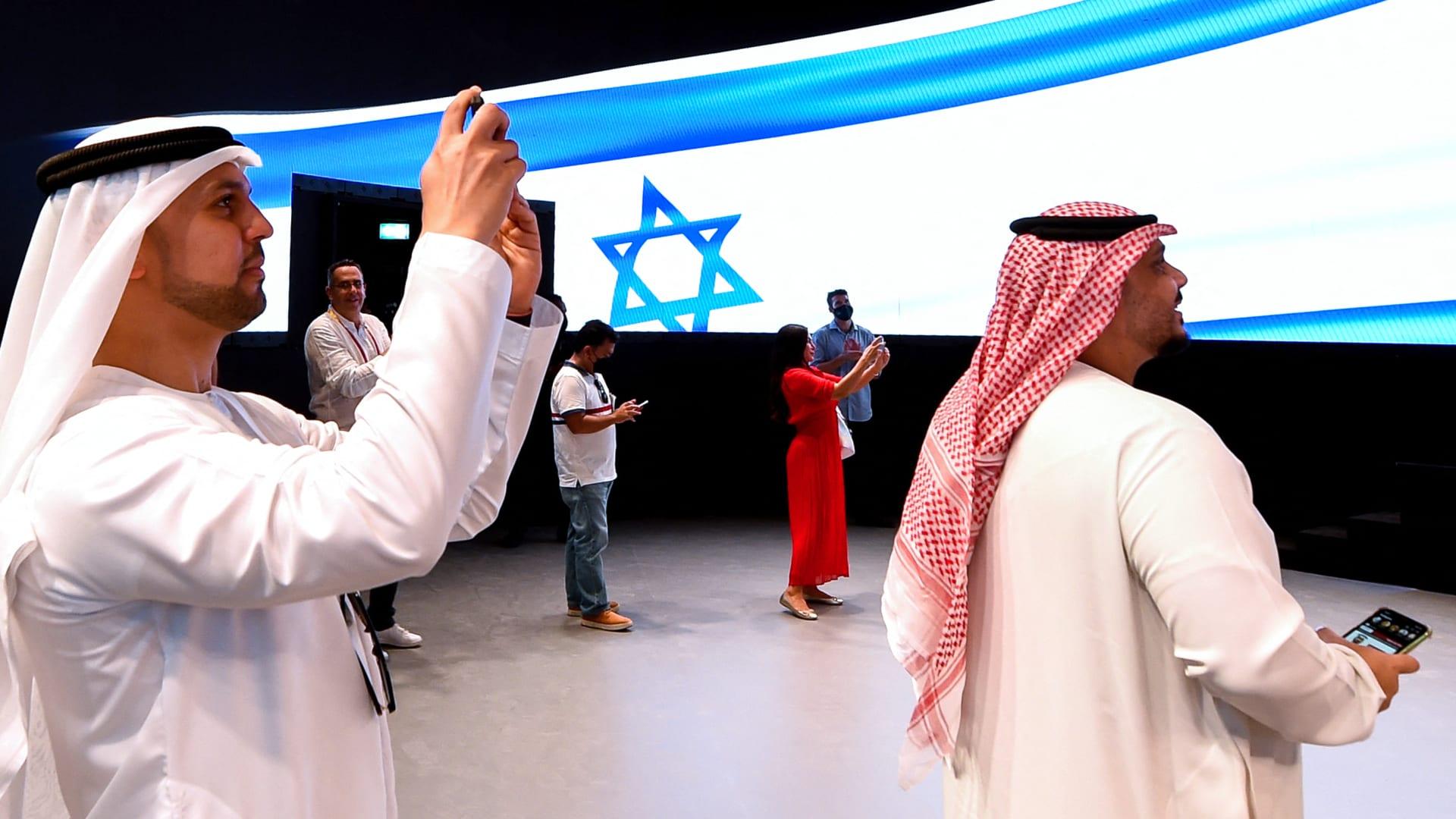 زوار لجناح إسرائيل في معرض اكسبو 2020 دبي