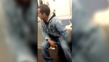 رجل يتحرش بفتاة نائمة في مترو الأنفاق