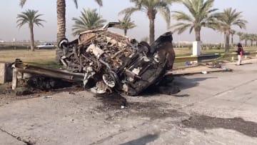 CNN في موقع استهداف قاسم سليماني بالقرب من مطار بغداد