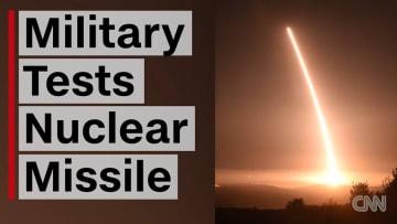 شاهد.. الجيش الأمريكي يختبر صاروخاً نووياً