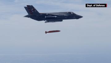 بالفيديو: F-35 تطلق أول قنبلة موجهة