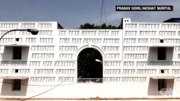 """فقط في الهند... رسومات جدارية تعمل """"على الطاقة الشمسية"""""""