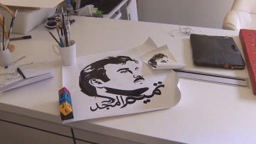 بمشهد تأييد ودعم للحكومة.. تداول واسع للوحات ترسم الشيخ تميم بقطر