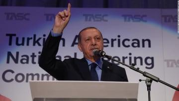 شاهد.. اندلاع عراك خلال كلمة لأردوغان بنيويورك