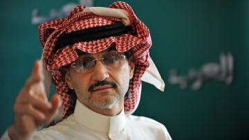 """شاهد.. أنباء إيقاف الوليد بن طلال تهبط بأسهم """"المملكة القابضة"""""""