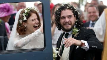 """شاهد.. زواج نجمي """"لعبة العروش"""" هارينغتون وليزلي"""