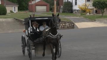 """خدمة """"أميش أوبر"""".. تستبدل السيارات بالعربة والحصان"""