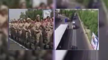 شاهد.. هلع بين جنود إيرانيين لحظة وقوع هجوم الأهواز