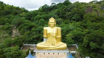 اكتشف كهف بوذا الذهبي في سريلانكا