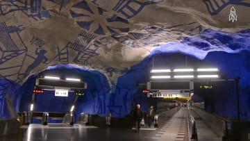 مترو الأنفاق في استوكهولم يتحول لأطول معرض فني في العالم