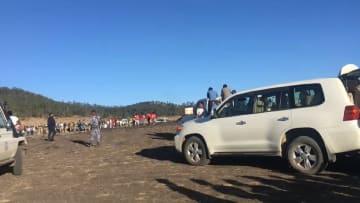 فرق البحث تمشط موقع تحطم الطائرة الإثيوبية