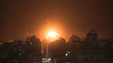 لحظة استهداف مكتب إسماعيل هنية في غزة