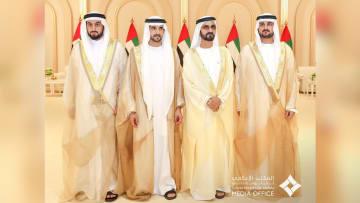 محمد بن راشد يحتفل بزفاف أبنائه حمدان ومكتوم وأحمد