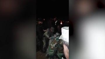 اللحظات الأولى بعد الضربات الأمريكية ضد الحشد الشعبي بالعراق