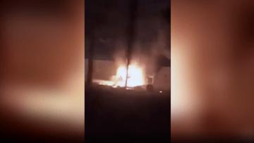 لحظة استهداف قاسم سليماني.. مركبات مشتعلة قرب مطار بغداد