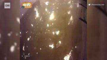 كاميرا مراقبة ترصد لحظة تحطم الطائرة الأوكرانية على الأرض