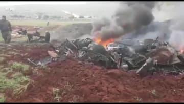 فيديو يظهر إسقاط مروحية عسكرية سورية في ريف حلب