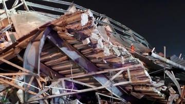 انهيار مبنى في الصين يستخدم كحجر صحي لمرضى كورونا وعشرات المحاصرين فيه