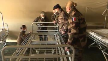 الجيش الفرنسي يبني مستشفى ميداني للمساعدة في مواجهة فيروس كورونا
