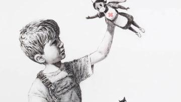 الفنان بانكسي يتبرع بلوحة لتكريم العاملين في مجال الرعاية الصحية