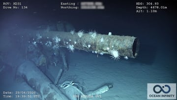 وصفت بأنها لا تغرق.. شاهد حطام سفينة حربية أمريكية غرقت قبل 72 عامًا