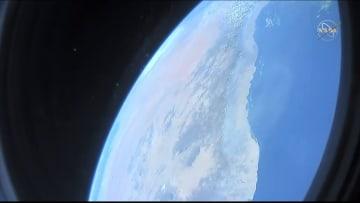 """هكذا ظهرت السعودية من كبسولة مركبة فضاء """"سبيس إكس"""""""