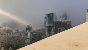 لقطات لم تعرض من قبل للحظة انفجار مرفأ بيروت الصادمة