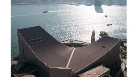"""صورة التقطت من سطح فندق """"بينينسولا"""" في منطقة """"تسيم شا تسوي""""."""