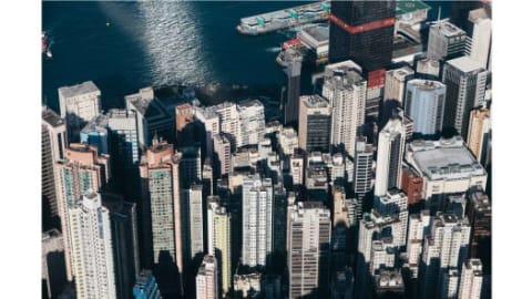 صورة التقطت من طائرة هليكوبتر.
