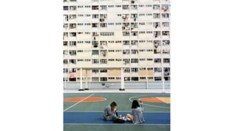 """صورة تبين الجيل الحالي في منطقة عقارات """"تشوي هونغ"""" للمباني السكنية."""