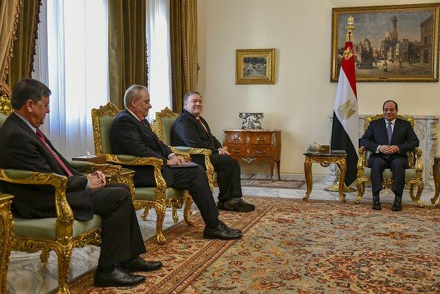 بومبيو بعد لقاء السيسي: نقف مع مصر في حربها ضد الإرهاب