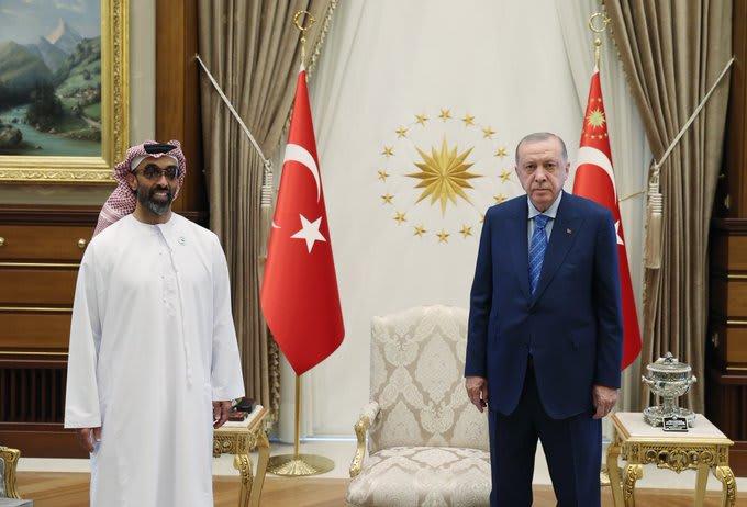 الرئيس التركي يستقبل مستشار الأمن الوطني الشيخ طحنون بن زايد