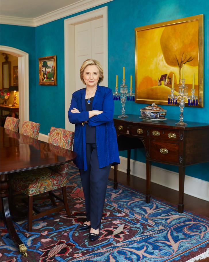 ألقي نظرة داخل بيت منزل عائلة كلينتون في واشنطن