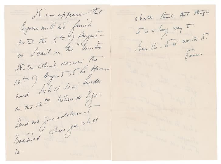 رسائل حب من الرئيس الأمريكي الراحل جون ف. كينيدي إلى عشيقته السويدية