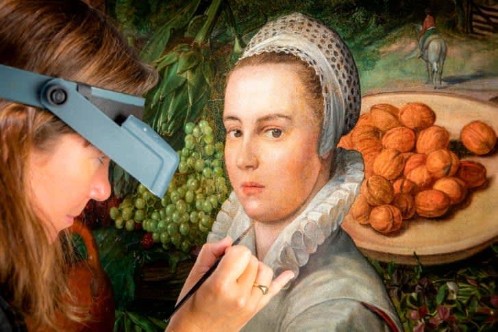 """""""بائعة الخضار"""".. ترميم لوحة يكشف تفاصيل جديدة عن عمرها ومن رسمها"""