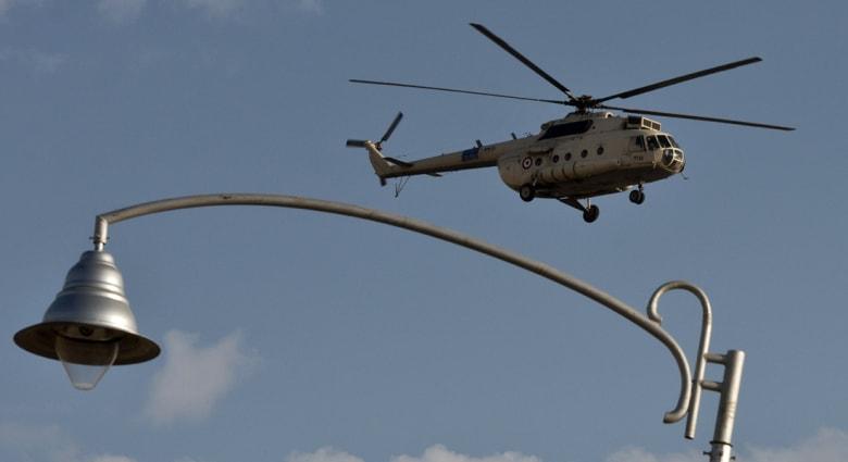 سقوط مروحية عسكرية مصرية في سيناء