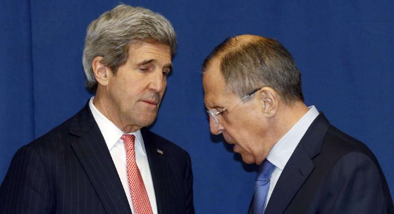 لقاء ثان بين كيري ولافروف بروما.. وأمريكا تبدأ بمعاقبة روسيا