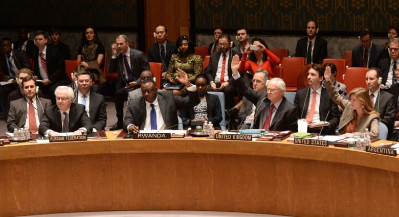 """روسيا تستخدم الفيتو ضد مشروع مجلس الأمن لاعتبار استفتاء القرم """"غير صالح"""""""