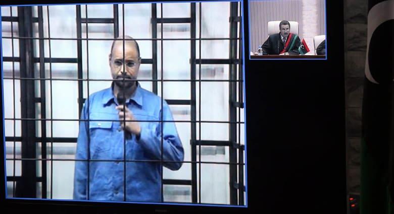 سيف الإسلام القذافي يمثل أمام المحكمة في طرابلس عبر الكاميرات