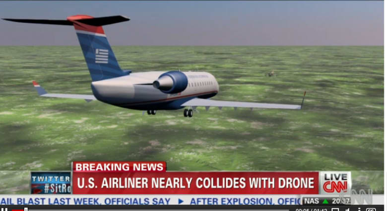 نجاة طائرة ركاب من الاصطدام بطائرة بدون طيار فوق فلوريدا