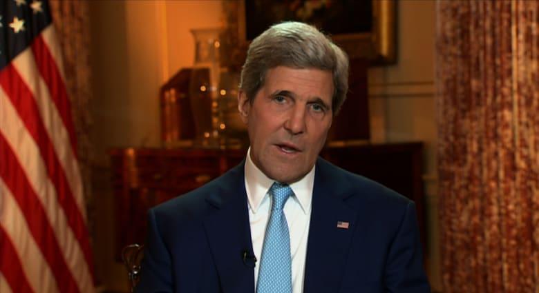 كيري لـCNN مدافعا عن سياسة أمريكا بسوريا: تخلصنا من 92% من الكيماوي دون ضربة عسكرية