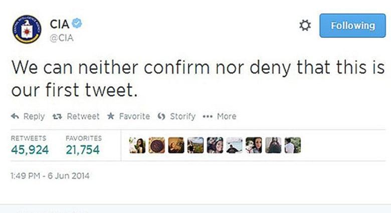 """وكالة الاستخبارات المركزية الأمريكية CIA """"تقتحم"""" تويتر بدعابة"""
