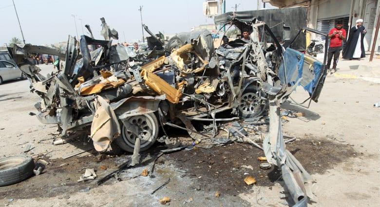 العراق: 33 قتيلا على الأقل بتفجير 5 سيارات بأحياء للشيعة