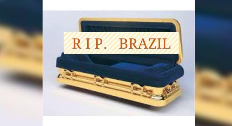 """""""فلترقدي بسلام يا برازيل"""" فيسبوكيون يعبرون عن خسارة فريق المونديال"""
